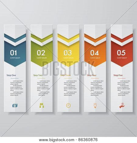 Design clean number banners template Vector.