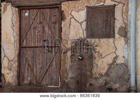 Old House With Wooden Door, Saudi Arabia