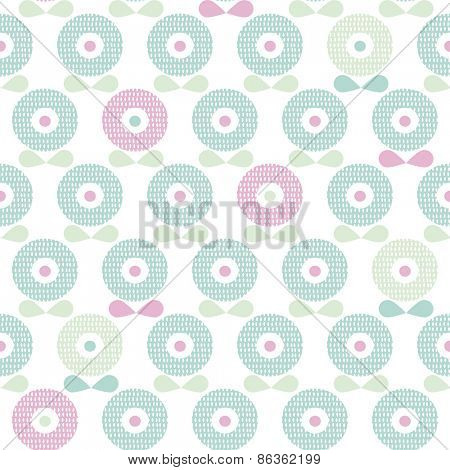 Seamless soft blue poppy flower spring blossom illustration background pattern in vector