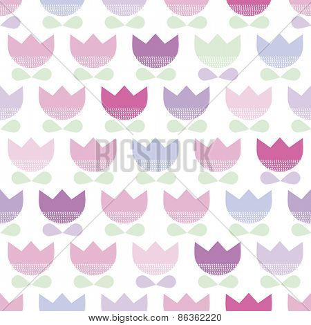 Seamless flowers spring tulips illustration blossom background pattern in vector
