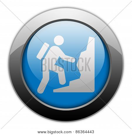 Icon, Button, Pictogram Climbing