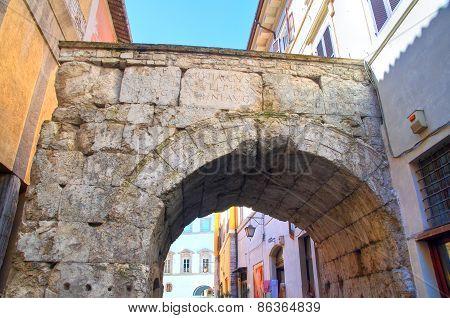 Arch of Drusus. Spoleto. Umbria. Italy.