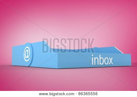 Blue inbox against pink vignette