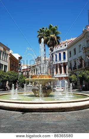 Fountain in town, Jerez de la Frontera.
