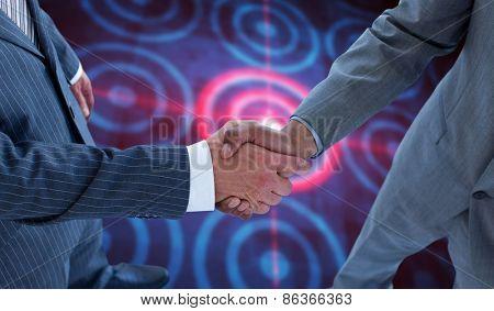 handshake against digital target over computing design