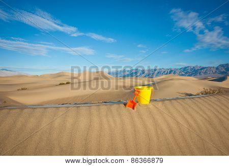 Bucket on Sand Ridge