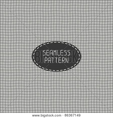 Vector black and white abstract seamless pattern of hand drawn lines. Doodle background illustration