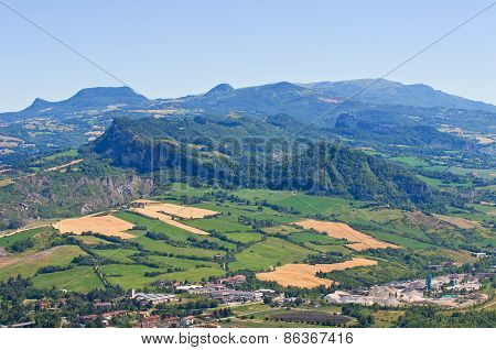 Panoramic view of Emilia Romagna. Italy.