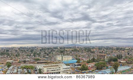 Aerial View Of The City Of Addis Ababa