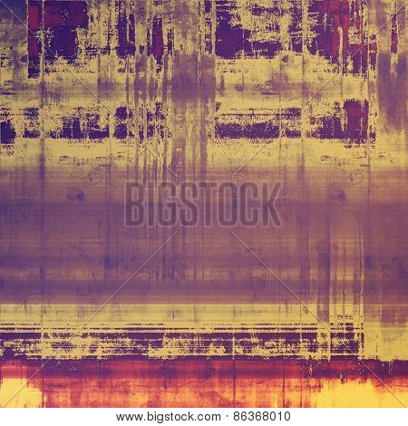 Grunge stained texture, distressed background with space for text or image. With different color patterns: yellow (beige); purple (violet); pink