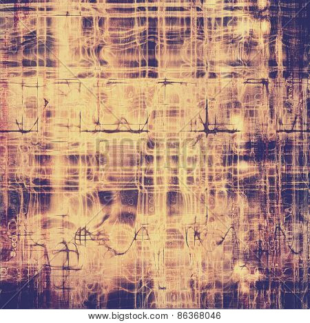 Old antique texture or background. With different color patterns: yellow (beige); brown; purple (violet)