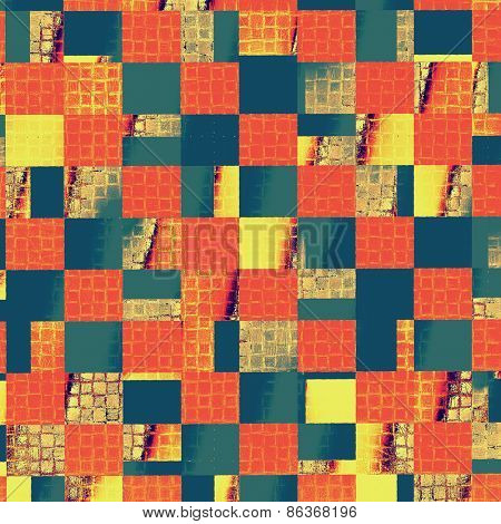 Abstract retro background or old-fashioned texture. With different color patterns: yellow (beige); blue; red (orange)