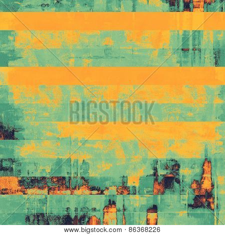 Designed grunge texture or background. With different color patterns: yellow (beige); green