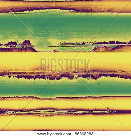 Antique vintage textured background. With different color patterns: yellow (beige); green; purple (violet)