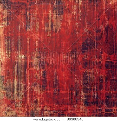 Old abstract grunge background, aged retro texture. With different color patterns: brown; red (orange)