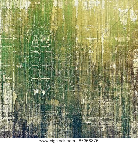 Designed grunge texture or retro background. With different color patterns: yellow (beige); brown; gray; green