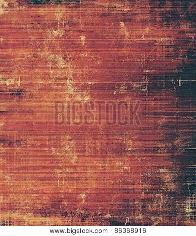 Old abstract grunge background, aged retro texture. With different color patterns: brown; red (orange); black