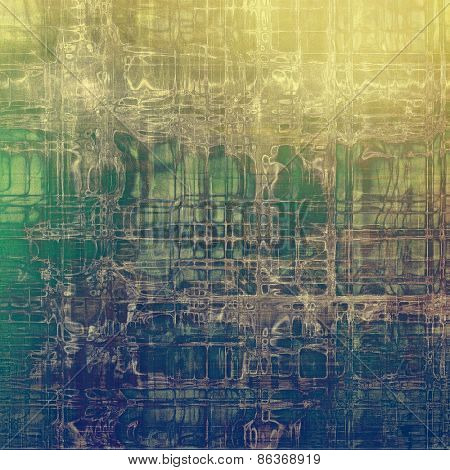 Grunge aging texture, art background. With different color patterns: yellow (beige); gray; green; blue
