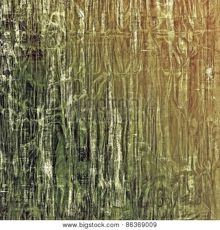 Old ancient texture, may be used as abstract grunge background. With different color patterns: yellow (beige); brown; gray; green