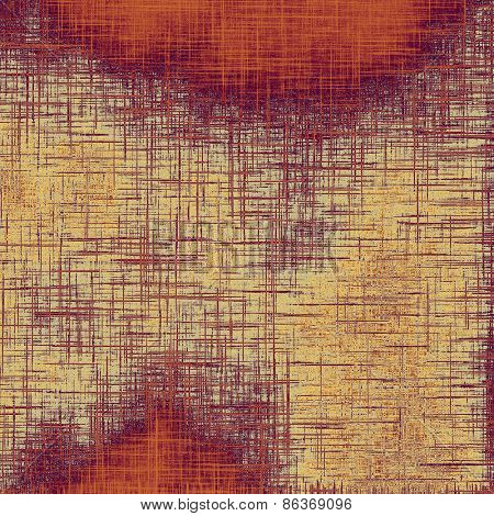 Designed background in grunge style. With different color patterns: yellow (beige); brown; purple (violet); red (orange)