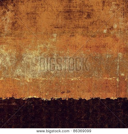 Grunge texture, distressed background. With different color patterns: yellow (beige); brown