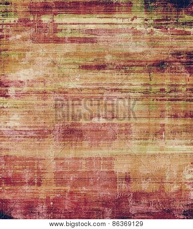 Vintage old texture with space for text or image, distressed grunge background. With different color patterns: yellow (beige); brown; green