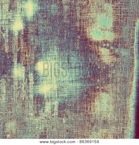 Grunge old-school texture, background for design. With different color patterns: gray; purple (violet); blue