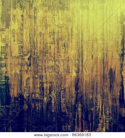 Art grunge vintage textured background. With different color patterns: yellow (beige); brown; blue