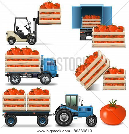 Vector Agricultural Icons Set 2