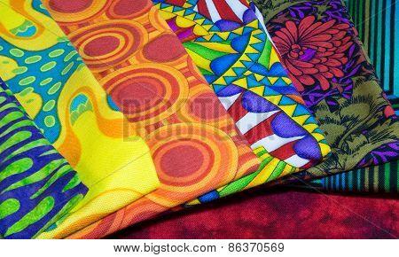 Squares Of Quilt Fabric