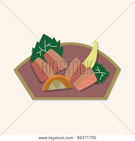 Japanese Food Sashimi Theme Elements