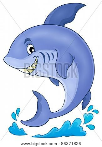 Image with shark theme 3 - eps10 vector illustration.