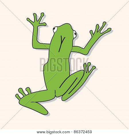 Animal Frog Cartoon Theme Elements