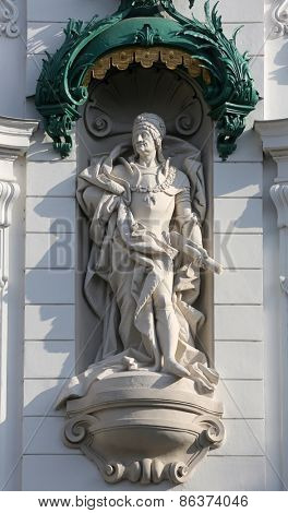 VIENNA, AUSTRIA - OCTOBER 10: King Frederick III, Regensburger Hof, Wustenrot Building in Vienna, Austria on October 10, 2014.