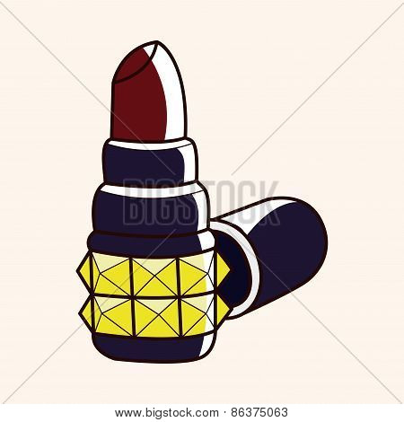 Rock Style Lipstick Theme Elements