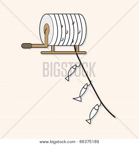 Fishing Cartoon Theme Elements