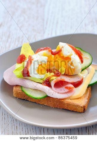 Fresh Sandwiches With Ham