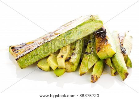 Fried Begetable Marrow Isolated On White