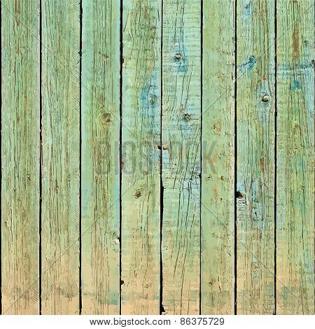 Square Green Planks