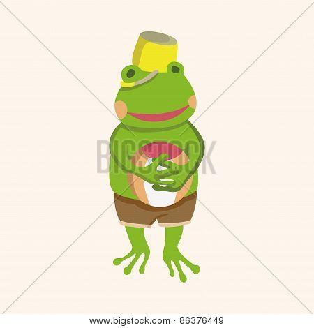 Animal Frog Summer Cartoon Theme Elements