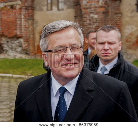 President Of The Republic Of Poland Bronislaw Komorowski