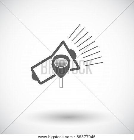 Megaphone single icon.
