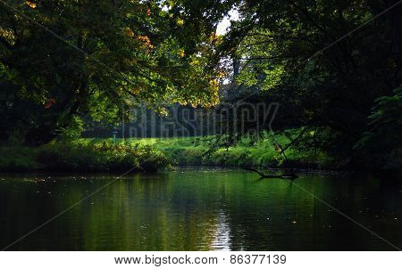 Looks Out The Boats On The River And Trees, Mysterious Atmosphere