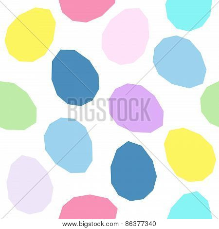Easter pattern decoration. Easter eggs with simplistic form. Seamless backdrop.