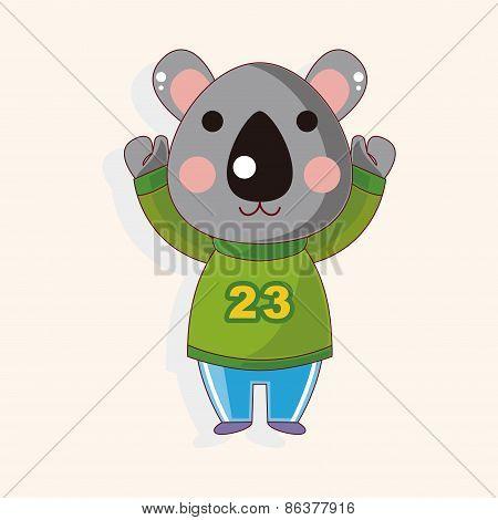Animal Koala Winter Cartoon Theme Elements