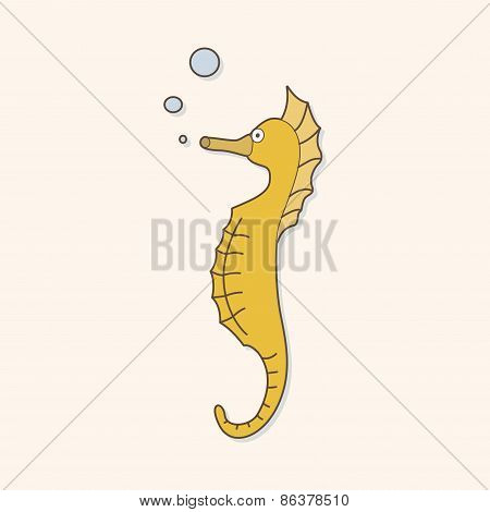 Sea Animal Seahorse Cartoon Theme Elements