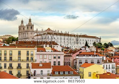 View Of The Monastery Of Sao Vicente De Fora In Lisbon