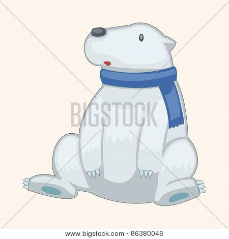 Animal Polar Bear Cartoon Theme Elements