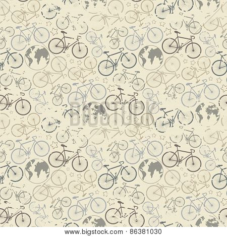 Bicycle grunge pattern
