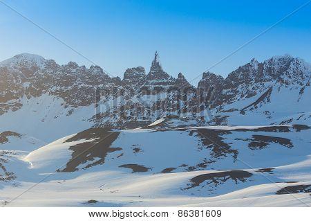 High mountain peak.